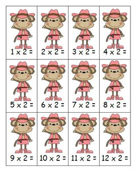 Go Monkey! Multiplication Go Fish Game ~ The Easy Ones, 0,