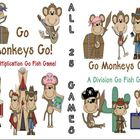 Go Monkeys Go! All TWENTY FIVE Go Fish Multiplication and