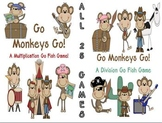 Multiplication and Division Center Games 25 Go Monkey Games