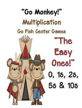 Go Monkeys Go! All Thirteen Go Fish Multiplication Center Games!