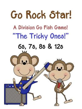 Go Rock Star! Division Go Fish Game ~ The Tricky Ones, 6,