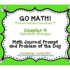 GoMath!(1st grade)FLA Common Core Chapter 4 Journal Prompt
