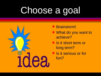 Goal Setting PowerPoint by Kim Townsel