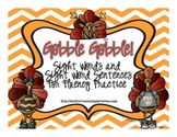 Gobble! Gobble! A Fluency Game for Sight Words and Sight W