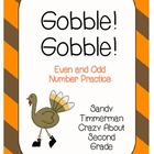 Gobble Gobble Even and Odd Number Practice