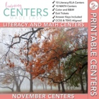Gobble, Gobble, Gobble--ELA and Math Centers Common Core Aligned