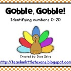 Gobble, Gobble: Identifying Numbers 0-20