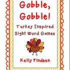 Gobble, Gobble! Turkey Inspired Sight Word Games
