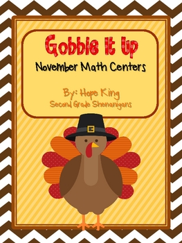 Gobble It Up Math Centers