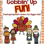 Gobblin' Up Fun {Math Centers for Bigger Kids}
