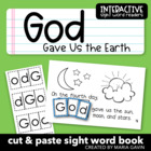 &quot;God Gave Us the Earth&quot; Interactive Sight Word Reader