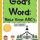 God&#039;s Word:  Bible Verse ABC&#039;s KJV Edition (Posters and Co