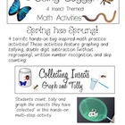 Going Buggy! 4 Insect Themed MATH Activities for Spring