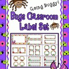 Going Buggy!  Bugs Classroom Label Set
