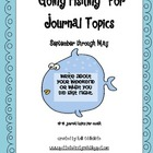 &quot;Going Fishing&quot; Monthly Journal Topics