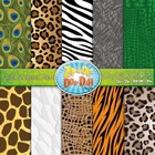 Going Wild Animal Print Digital Scrapbook Pack  Rainfor