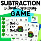 Going for Gold game- Double Digit Subtraction without regrouping