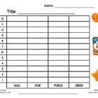Goldfish Graphing Activity - Tally Chart, Bar Graph, Pictograph