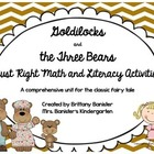 Goldilocks and the Three Bears Literacy and Math Unit with