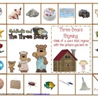 Goldilocks and the Three Bears Rhyming Game