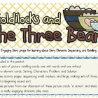 Goldilocks & the Three Bears - Story Elements, Sequencing,