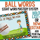 Golf Ball Words-Dolch 6 Mastery System Aligned to Common Core