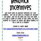 Good Behavior Reward Cards