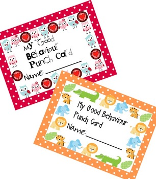 Good Behaviour Punch Cards