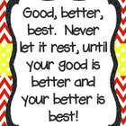 Good, Better, Best