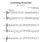 Good King Wenceslas: Instrumental Duo with Mix n Match parts