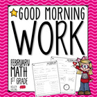 Good Morning Work - Math - February