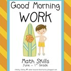 Good Morning Work - Math - June (1st Grade)