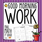 Good Morning Work - Math - May
