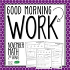 Good Morning Work - Math - November (2nd Grade)