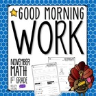 Good Morning Work - Math - November