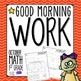 Good Morning Work - Math - October