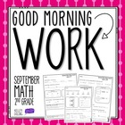 Good Morning Work - Math - September (2nd Grade)