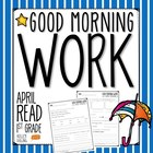 Good Morning Work - Reading - April