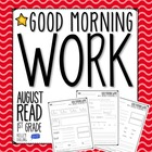 Good Morning Work - Reading - August (1st Grade)