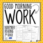 Good Morning Work - Reading - November (2nd Grade)