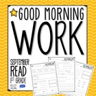Good Morning Work - Reading - September (1st Grade)