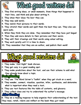 Good Reader's and Good Writer's