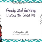 Goods and Services Literacy Mini Center Kit