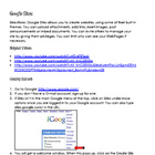 Google Sites | Technology Integration