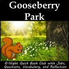 Gooseberry Park literature circle or book club