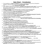 Government - Constitution Note Sheet