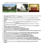 Government - Origins of U.S. Gov Note Sheet
