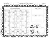 Gr 1 Common Core Math Skills Sheets FREEBIE for first nine weeks