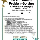 Gr 3 Arithmetic Concepts for Problem Solving: Sample Items
