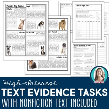 Gr 4-6 Nonfiction Article & Tasks for Finding & Using Text Evidence Common Core